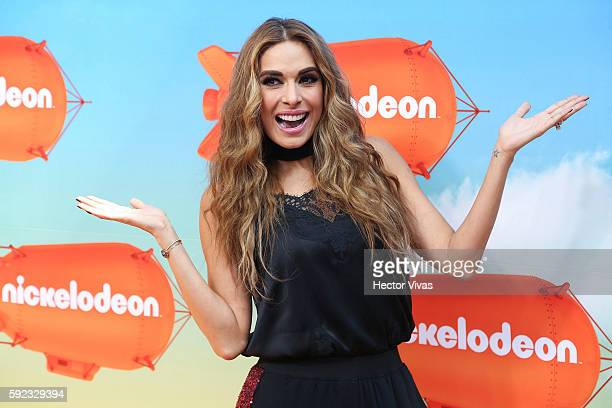 Galilea Montijo poses during the Orange Carpet of the Kids Choice Awards 2016 at Auditorio Nacional on August 20 2016 in Mexico City Mexico
