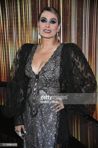 Galilea Montijo poses for photo during the first chapter of the talent reality show 'Pequeños Gigantes' at Televisa San Angel on March 13 2020 in...