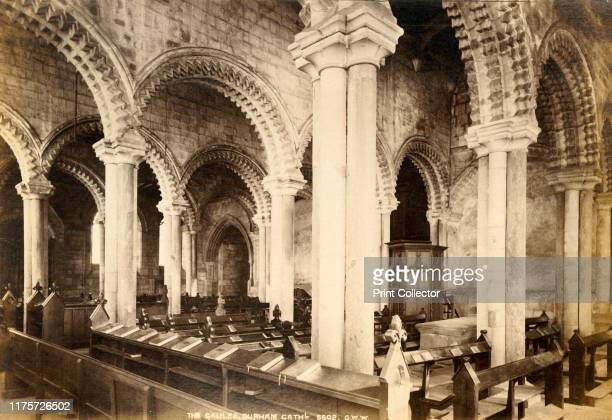 Galilee Chapel, Durham Cathedral', 1893. The Romanesque cathedral in Durham dates almost entirely from the 12th century. It was a medieval site of...