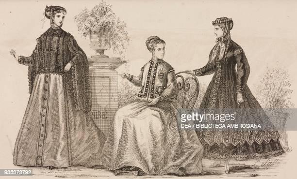 Galilee Douarnenez CasaqueMarquise women's clothing models engraving Magasin des Demoiselles Volume XXIII 18661867 summer season