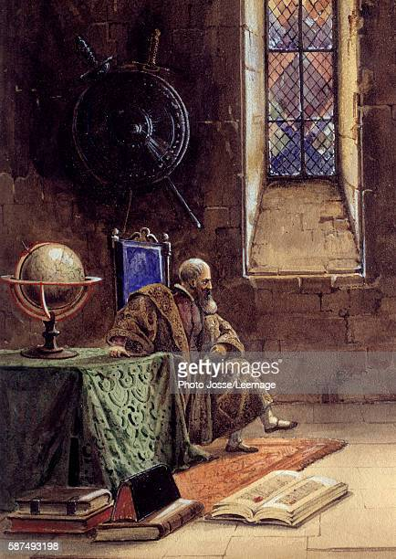 Galilee or Galileo Galilei in the play Galilee by Francois Ponsard in the Comedie Francaise 1867 The astronomer is depicted in prison Illustration by...