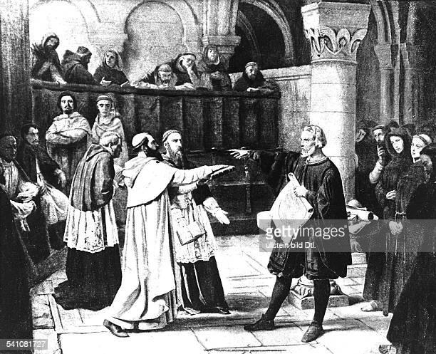 Galilei Galileo *1502156408011642Mathematiker Physiker Astronom Italien vor dem Inquisitionstribunal 1632