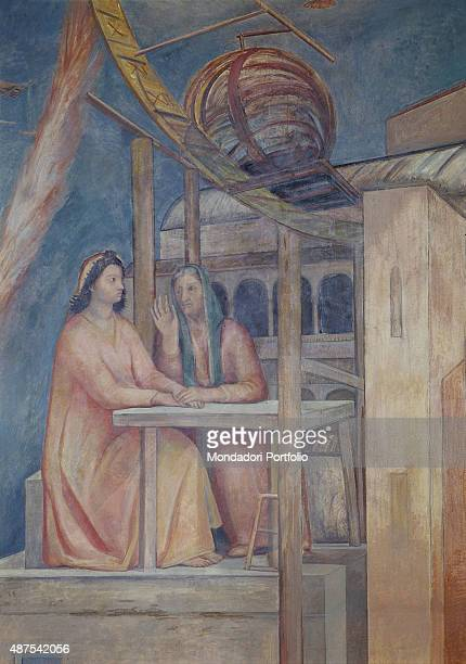 Galileo and his Discovery by Ferruccio Ferrazzi 19401942 20th Century encausting painting Italy Veneto Padua Bo Palace Sciences Room Detail...