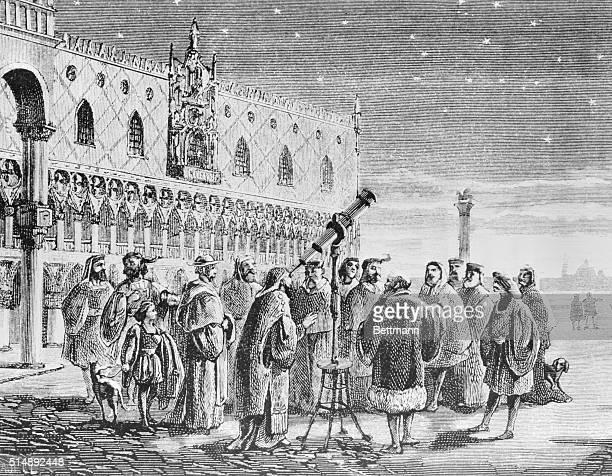 Galileo demonstrating his telescope to the Senate of Venice