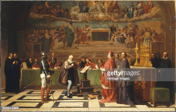 Galileo Galilei before members of the Holy Office in the Vatican in 1633, 1847. Found in the Collection of Musée du Louvre, Paris. )