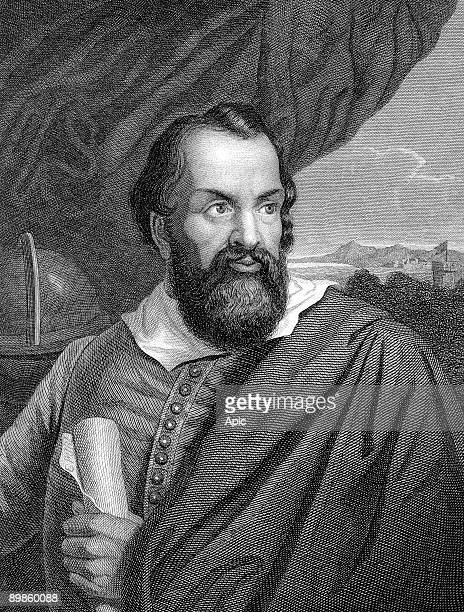 Galileo Galilei italian scientist astronomer and writer engraving