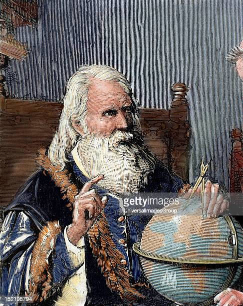 Galileo Galilei , Physicist, Italian mathematician and astronomer, Galileo demonstrating his astronomical theories, Engraving by Rico in the 'Spanish...