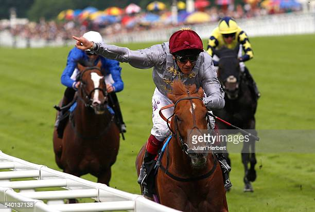 Galileo Gold ridden by Frankie Dettori leads the field home to win The St James Palace Stakes Race run during Day One of Royal Ascot at Ascot...