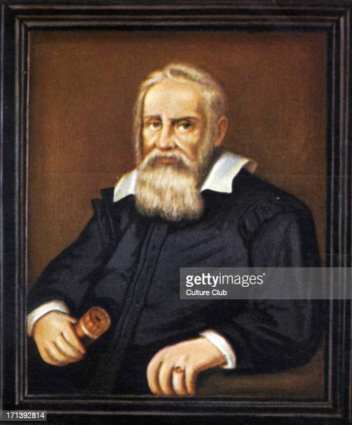Galileo - portrait - Italian astronomer, philosopher, and physicist 15 February 1564 - 8 January 1642