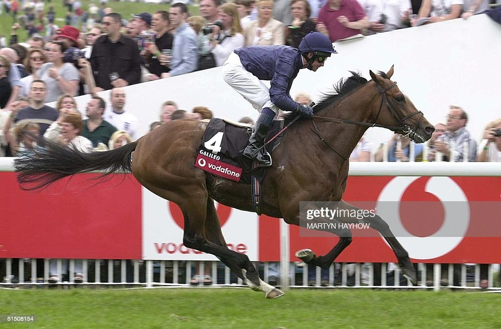 Galileo ridden by Michael Kinane easily wins the D : News Photo