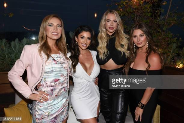 Galina Antonova, Lauren Blake, Antje Utgaard and Rachael Brook attend the LennyLu x Puey Quiñones Luxury Shoe Launch at SIXTY Beverly Hills on...