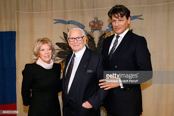 Galina de Bouard Pierre Cardin and Nephew Rodrigo Basilicati attending the celebration of 26 Years of Russian French Friendship by the 'Association...