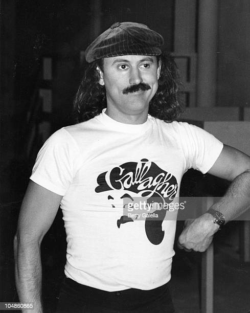 Gallagher during Comedian Gallagher at Taping of The Dinah Shore Show April 15 1980 at KTLA Studios in Los Angeles California United States