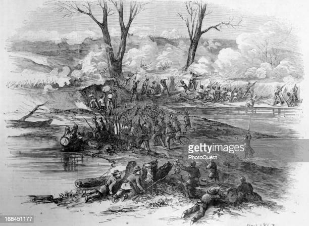 Gallant charge of the Sixth Missouri Regiment at the Battle at Vicksburg Vicksburg Mississippi mid 1863