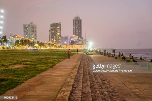 galle face green - colombo stock pictures, royalty-free photos & images