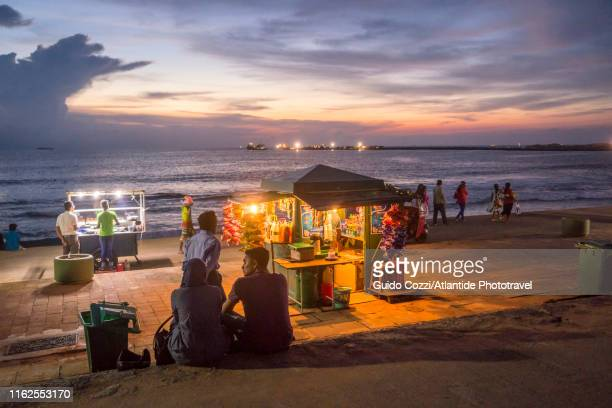 galle face green - sri lanka stock pictures, royalty-free photos & images