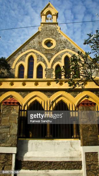 galle fort methodist church on a clear sunny day - methodist church stockfoto's en -beelden