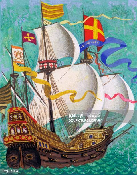 Galleon drawing