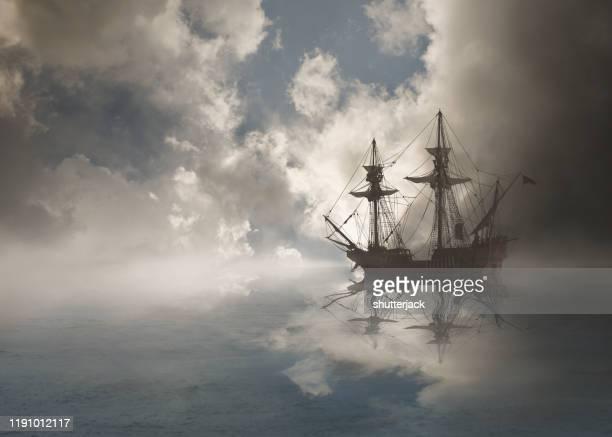 galleon sailing in ocean, usa - 大型帆船 ストックフォトと画像