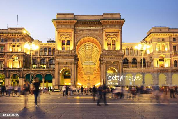 galleria vittorio emanuele at piazza del duomo milan italy - milan stock pictures, royalty-free photos & images