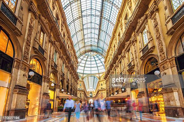 galleria vittorio emanuele ii in milan, italy - milan stock pictures, royalty-free photos & images