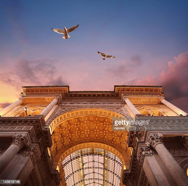 galleria vittorio emanuele ii in milan - milan stock pictures, royalty-free photos & images