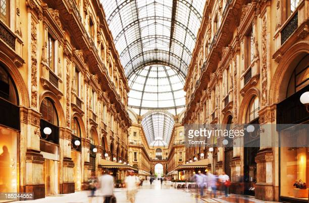 galleria vittorio emanuele ii in milano, italy - milan stock pictures, royalty-free photos & images