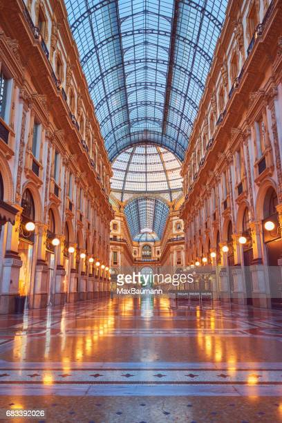 galleria vittorio emanuele ii milan, italy - lombardy stock pictures, royalty-free photos & images