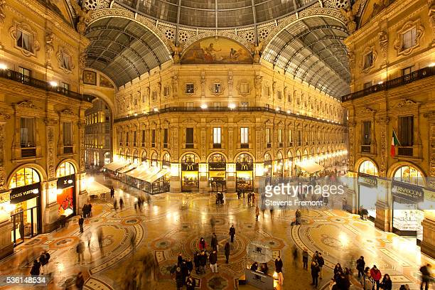 galleria vittorio emanuele ii - art nouveau stock pictures, royalty-free photos & images
