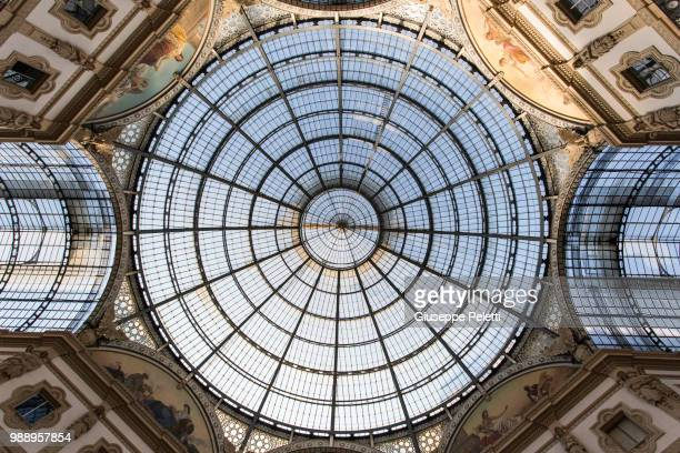 galleria vittorio emanuele - ceiling stock pictures, royalty-free photos & images