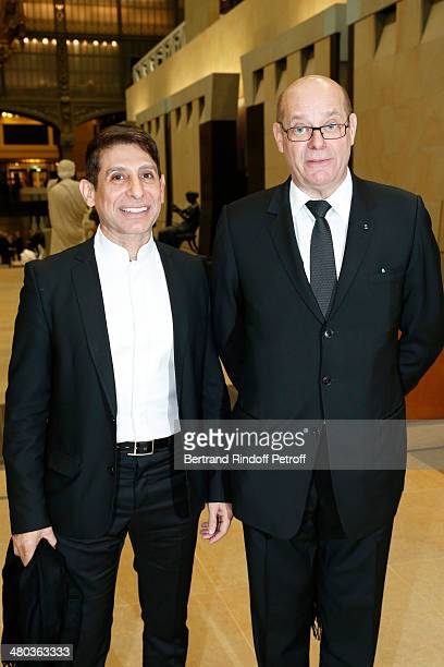 Gallerist and President of Syndicat National des Antiquaires Christian Deydier and Jacques Demri attend the dinner party of the Societe Des Amis Du...