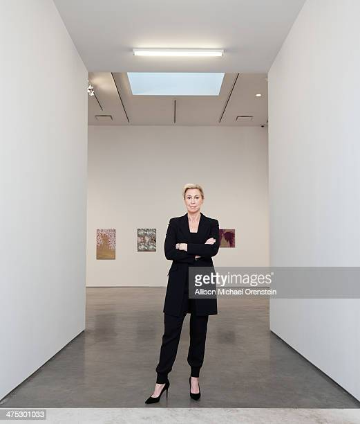 Gallerist Marianne Boesky is photographed for Wall Street Journal on February 12 2014 in her gallery in New York City PUBLISHED IMAGE