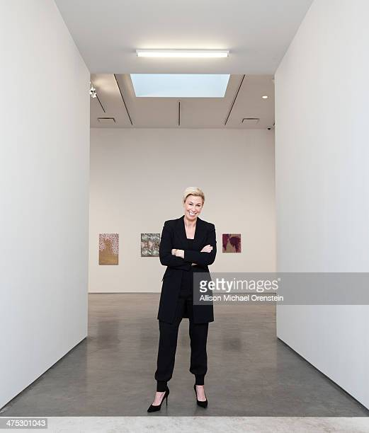 Gallerist Marianne Boesky is photographed for Wall Street Journal on February 12 2014 in her gallery in New York City