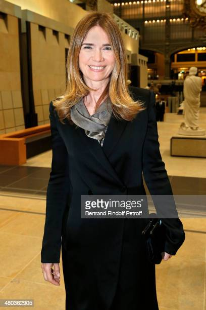 Gallerist Sophie Agon attends the dinner party of the Societe Des Amis Du Musee D'Orsay at Musee d'Orsay on March 24 2014 in Paris France