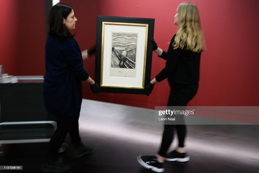 GBR: Installation Prints Of Edvard Munch The Scream At The British Museum