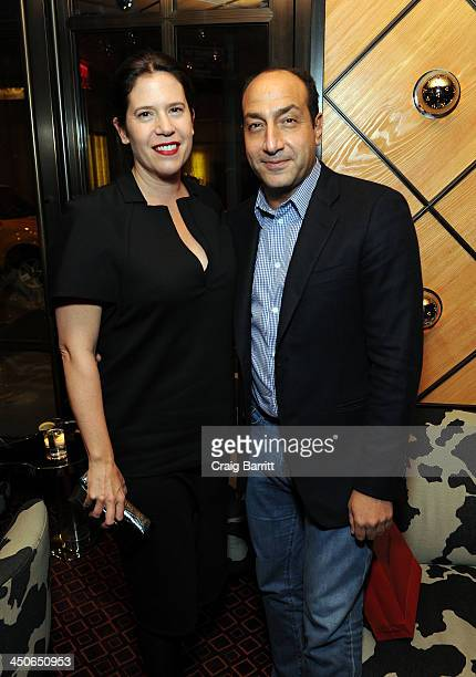 Gallery Director Eleanor Acquavella and Art Collector Alberto Mugrabi attend Acquavella Galleries Hosts a Book Launch for Enoc Perez Published by...