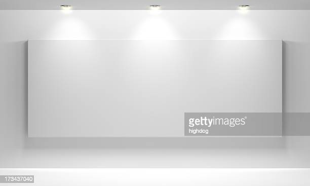 gallery interior with empty - art museum stock pictures, royalty-free photos & images