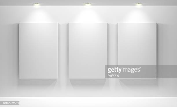 gallery interior with empty - art gallery stock pictures, royalty-free photos & images