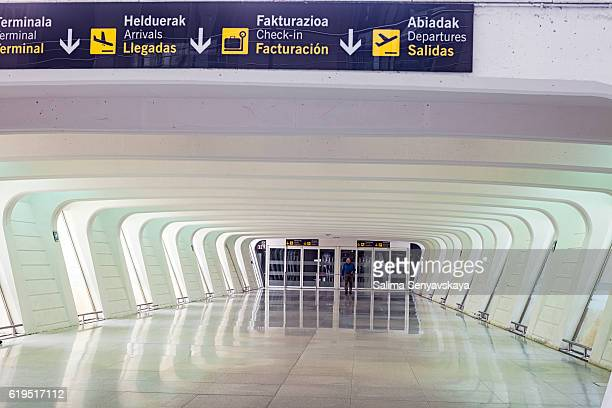Gallery leading to the elevators in Bilbao Airport