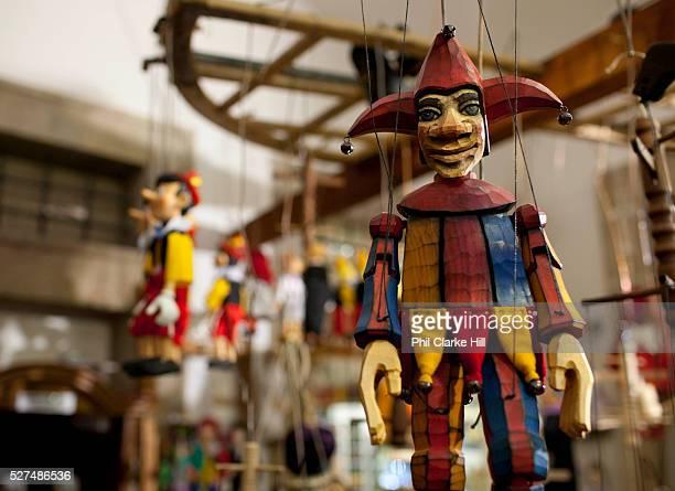 Gallery Marionettem hand made puppet shop Prague Czech Republic