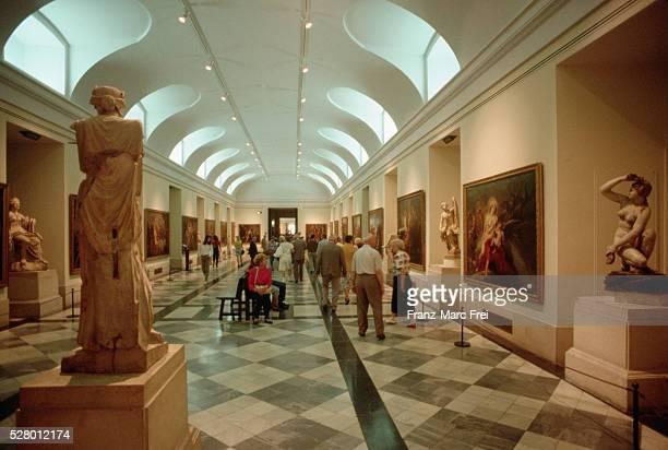 gallery of the prado museum, madrid - el prado museum stock pictures, royalty-free photos & images