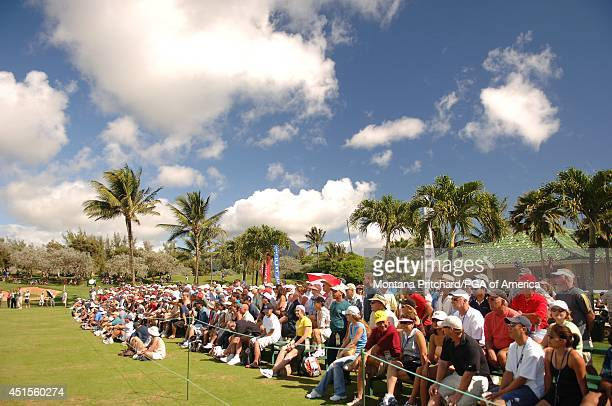 gallery on the first tee during the ProAm for the PGA Grand Slam of Golf at Poipu Bay in Kauai Hawaii Tuesday November 21 2006