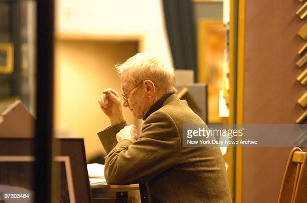 Gallery owner Alberto Braunstein the estranged father of writer Peter Braunstein sits at his desk in the Kew Gallery on First Ave Police are looking...