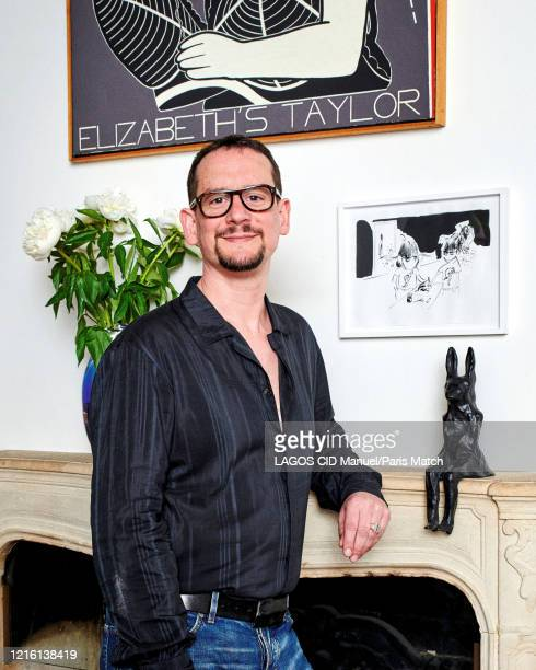 Gallery owner Benoit Porcher is photographed for Paris Match at home in Paris France on May 12 2020