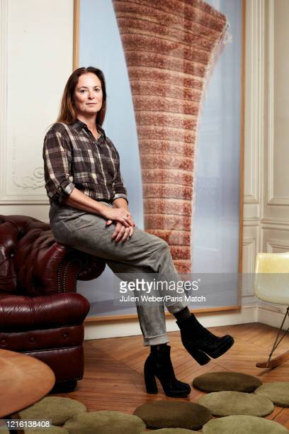Gallery owner Fabienne Leclerc is photographed for Paris Match at home in Romainville near Paris France on May 12 2020