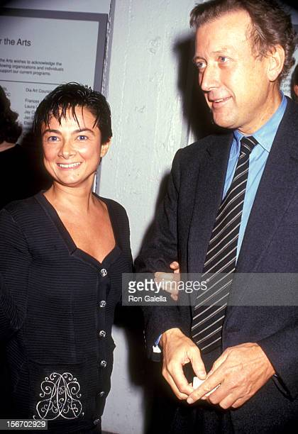 Gallery owner Mary Boone and guest attend The Dia Center for the Arts' Fall Gala Unveiling of Brice Marden's Cold Mountain Exhibit on October 15 1991...
