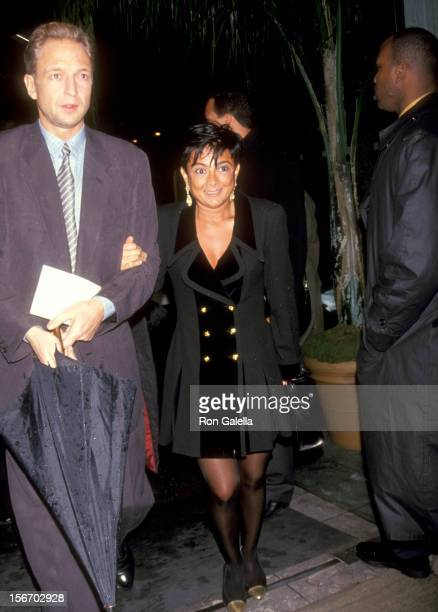 Gallery owner Mary Boone and guest attend the East Coast Viewing Party for the 64th Annual Academy Awards on March 30 1992 at The Paramount Hotel in...