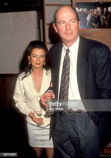 Gallery owner Mary Boone and guest attend the Reine Margot La New York City Premiere on December 7 1994 at Tribeca Film Center in New York City