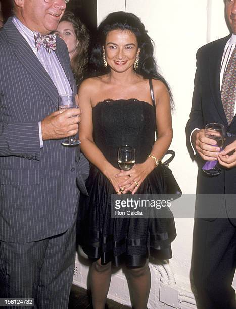 Gallery owner Mary Boone attends the Party to Celebrate Bob Colacello's New Book 'Holy Terror Andy Warhol Close Up' on August 8 1990 at The Factory...