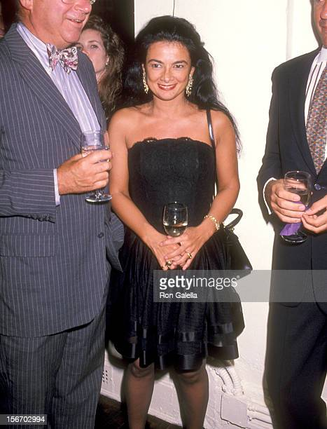 Gallery owner Mary Boone attends the Party to Celebrate Bob Colacello's New Book Holy Terror Andy Warhol Close Up on August 8 1990 at The Factory in...
